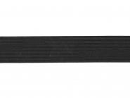 Gummiband geflochten schwarz Nr. 54005-30s, Breite ca. 30 mm