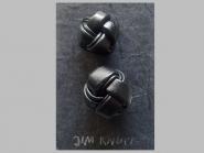 Jim Knopf Lederknopf schwarz Nr. 11939