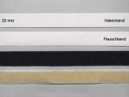 Klettband Standard zum Annähen Nr. 91665, Breite 20 mm, Flausch- und Hakenband