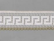 Klöppelspitze 75303_10268F, Breite 75 mm, Farbe weiß mit Lurex gold