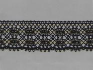 Klöppelspitze 75409_10201, Breite 75 mm, Farbe schwarz mit Lurex gold