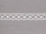 Klöppelspitze 82231_10087, Breite 30 mm, Farbe weiß mit Lurex silber