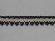 Klöppelspitze 82293_10201, Breite 32 mm, Farbe schwarz mit Lurex gold
