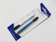 Kreidestifte mit Löschbürste Nr. 75731 in weiß und blau, Stiftlänge ca. 9 cm