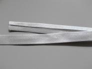 Lurex-Schrägband 640-02, Breite ca. 15 mm, Farbe 02 silber