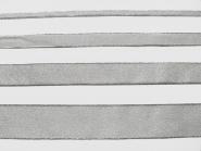 Lurexband Nr. 25197s - Metallic-Band in silber mit Silberkante, Breite 7, 15, 25 und 38 mm