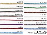 Lurexkordel aus Echt-Lurex Nr. 2276, Breite ca. 2,5 mm
