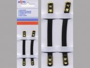Pronty Mantelaufhänger Lederimitat in schwarz, 2 Stück auf Karte