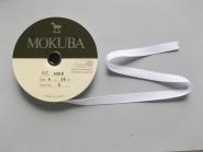 Mokuba Grossgrain Ribbon Nr. 8900-9-00, Farbe 00 weiß, Breite ca. 9 mm