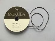 Mokuba Metallic Cord Nr. 9818-86 in schwarz-gold, Breite ca. 2 mm