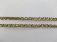 Mokuba Metallic Trimming Braid Nr. 9560-4, Farbe 4 oliv-silber, Breite ca. 8 mm
