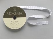 Mokuba Pleat Satin Ribbon Nr. 4478-15-2, Farbe 2 weiß Breite ca. 15 mm