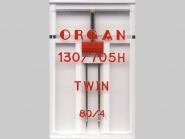 Organ Zwillingsnadel Nr. 3880, Typ 80/4, 1 Nadel in Box