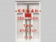 Organ Zwillingsnadel Stretch Nr. 388002, Typ 75/4, 1 Nadel in Box