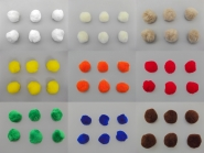 Pompons - Bommeln zum Annähen Nr. 500879, Durchmesser ca. 4 cm