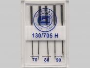 Maschinennadeln Standard Nr. 170500, Stärke 70, 80 und 90 sortiert, Box mit 5 Nadeln