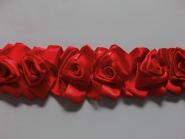 Satin-Rosenborte in rot Nr. 56058816-03, Breite ca. 8 cm, Reststück 0,3 m