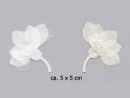 Satinblume mit Chiffon Nr. 91491, Größe ca. 5 x 5 cm