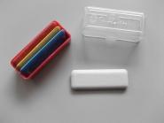 Schneiderkreide bunt im Kleinpack, 4 Stück in Plastikdose, 4 Farben