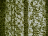 Spitzenstoff elastisch 464368 in oliv mit aufgenähten Pailletten, Breite ca. 150 cm