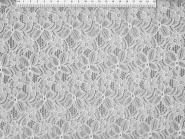 Spitzenstoff HS5002-01 mit Blumenmuster, Breite ca. 145 cm, Farbe 01 weiß