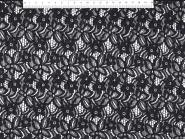 Spitzenstoff HS5002-14 mit Blumenmuster, Breite ca. 145 cm, Farbe 14 schwarz