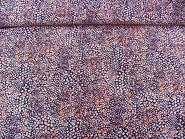 Stoff 801104 in schwarz mit Blumendruck weiß-lila-hellrot, Breite ca. 145 cm