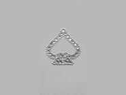 Strass-Bügelmotiv CS084, Strassapplikation auf silberner Glitterfolie, Größe ca. 4,5 x 4,5 cm