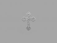 Strass-Bügelmotiv CS093, Strassapplikation auf silberner Glitterfolie, Größe ca. 4,9 x 3,7 cm
