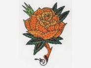 Strass-/Folien-Bügelmotiv TA 008 - Rose, Größe ca. 11,5 x 15,5 cm