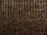 Strickstoff HR10959-B in dunkelbraun mit Lurex gold, Breite ca. 140 cm