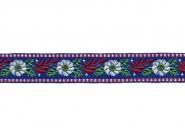 Tirolerband in blau bestickt Nr. 161401-42, Breite ca. 25 mm