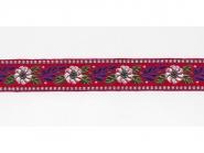Tirolerband in rot bestickt Nr. 161401-65, Breite ca. 25 mm