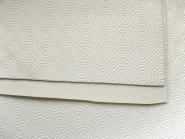 Tischpolster-Tischunterlage ZTR-0302 aus Softschaum mit Wabenprägung, Farbe creme, Breite ca. 140 cm