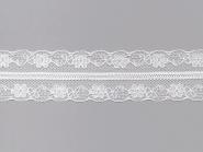 Tüllspitze mit beidseitiger BogenkanteNr. 70670, Breite ca. 32 mm, Farbe weiß