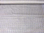 Weihnachtsorganza RS0127-005 in weiß mit Rauten in Goldglitter, Breite ca. 145 cm