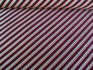 Weihnachtsdekostoff L8113-102 in bordeaux mit Glitterstreifen diagonal, Breite ca. 150 cm