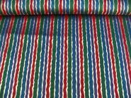 Weihnachtsdekostoff L8113-103 mit Längsstreifen in rot, grün, blau lila, Breite ca. 150 cm