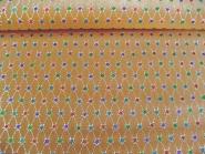 Weihnachtsdekostoff L8113-106 in goldbraun mit Glittersternen, Breite ca. 150 cm