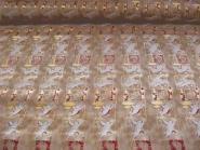 Weihnachtsdekostoff L8113-107 in goldbraun-gold mit Engelchen, Breite ca. 150 cm