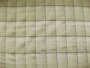 Grober Wollstoff kariert Nr. 473008 in natur-wollweiß-schwarz, Breite ca. 145 cm