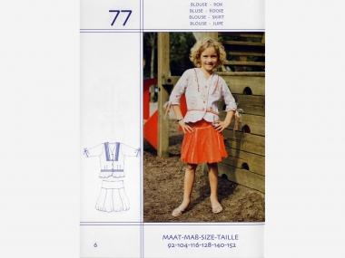 ABACADABRA Schnittmuster Nr. 77 Mädchen-Bluse und Rock