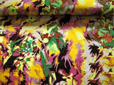 Baumwollstoff Stretch Barbados L538-001 pink-gelb