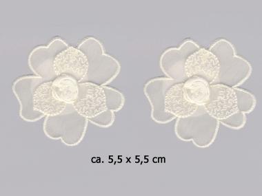 Chiffonblume bestickt mit Satinrose Nr. 91488