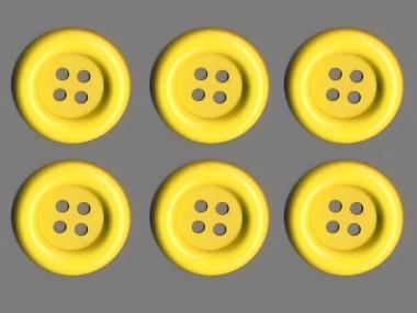 Clowns-Knöpfe 10115107-106ge, Farbe gelb