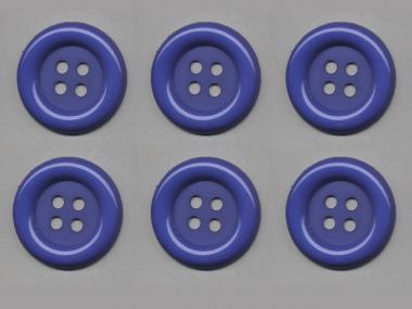 Clowns-Knöpfe 10115091-80bl, Farbe blau