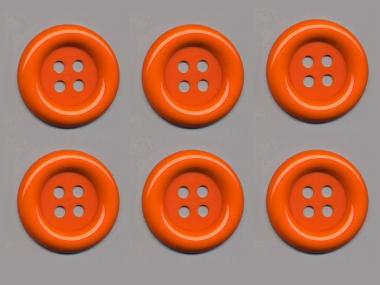Clowns-Knöpfe 10115091-80or, Farbe orange