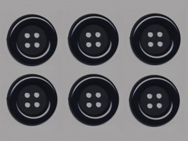 Clowns-Knöpfe 10115091-80sw, Farbe schwarz