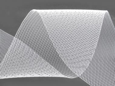 Crinoline Versteifungsband fest S750348-01, Breite 10 cm, Farbe 01 weiß