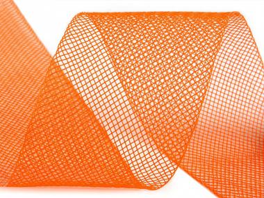 Crinoline Versteifungsband fest S750344-04, Breite 5 cm, Farbe 04 orange